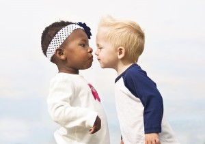 Bigstock - Diverse Little Kids about to Kiss