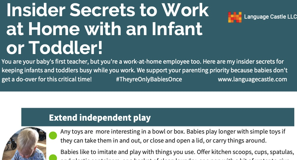 play secrets to work home with baby