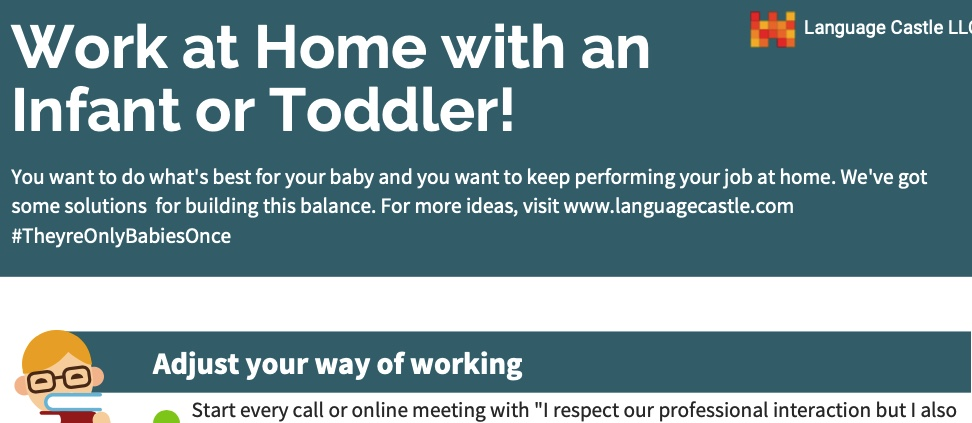 Work at home with infant or toddler