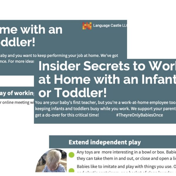 free infographics Work at Home with Baby